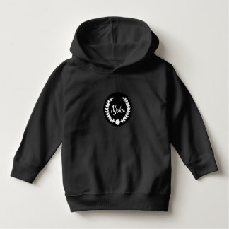 Njoku Black 'Wreath' Toddler Logo Hoodie. Hoodie