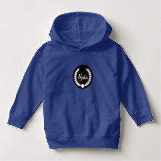 Njoku Blue 'Wreath' Toddler Logo Hoodie. Hoodie
