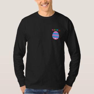 Njoku Easter Egg 'RNBW' Black Long S. T-Shirt. T-Shirt