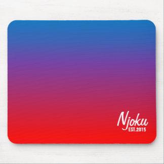 Njoku 'Est.2015' Blue Flame Gradient Mousepad. Mouse Pad