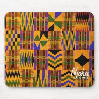 Njoku 'Est.2015' Logo African Print Mousepad. Mouse Pad