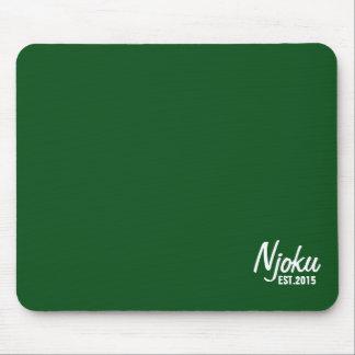 Njoku 'Est.2015' Logo D.Green Mousepad. Mouse Pad