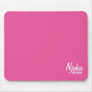 Njoku 'Est.2015' Logo Pink Mousepad. Mouse Pad