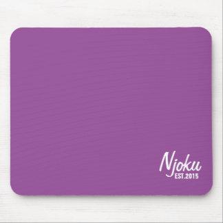 Njoku 'Est.2015' Logo Purple Mousepad. Mouse Pad