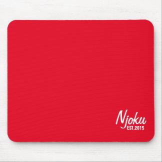 Njoku 'Est.2015' Logo Red Mousepad. Mouse Pad