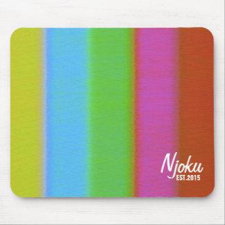 Njoku 'Est.2015' Logo VHS Effect Mousepad. Mouse Pad