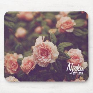 Njoku 'Est.2015' Logo Vintage Rose Mousepad. Mouse Pad