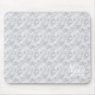 Njoku 'Est.2015' Marble Mousepad. Mouse Pad