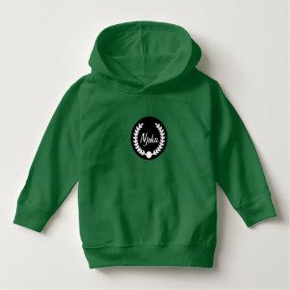 Njoku Green 'Wreath' Toddler Logo Hoodie. Hoodie