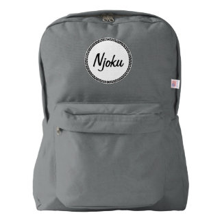 Njoku Grey Wreath Backpack. American Apparel™ Backpack