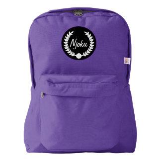 Njoku Purple Wreath Backpack #2.