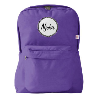 Njoku Purple Wreath Backpack. American Apparel™ Backpack