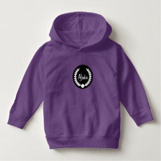 Njoku Purple 'Wreath' Toddler Logo Hoodie. Hoodie