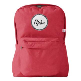 Njoku Red Wreath Backpack. American Apparel™ Backpack