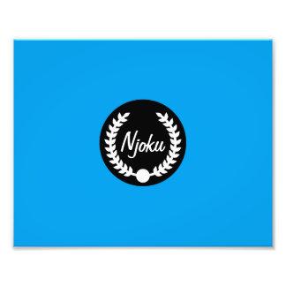 Njoku 'Wreath' Blue Photo Enlargement.