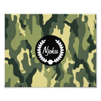 Njoku 'Wreath' Camo Photo Enlargement.