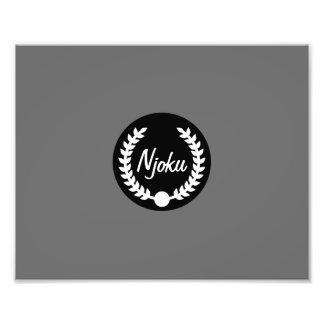 Njoku 'Wreath' Grey Photo Enlargement.