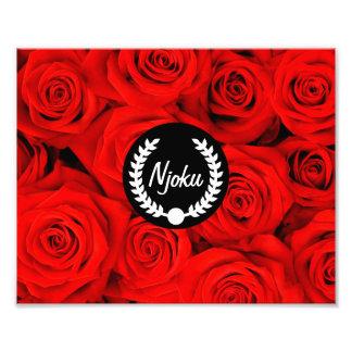 Njoku 'Wreath' Red Rose Photo Enlargement.