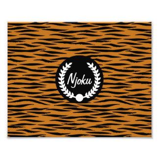 Njoku 'Wreath' Tiger Skin Photo Enlargement.