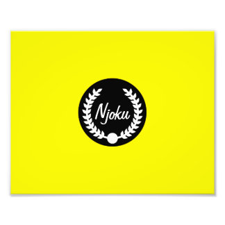 Njoku 'Wreath' Yellow Photo Enlargement.