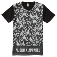 NJOKU X APPAREL Seamless Print T-Shirt. All-Over Print T-shirt
