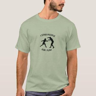 "NKFA ""I stab people for fun!"" MEN's t-shirt"