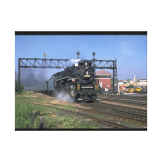"""NKP 2-8-4 Berkshire #759 with """"_Trains Canvas Print"""