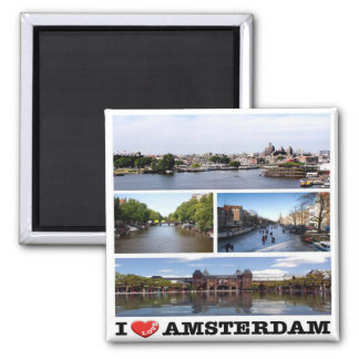 NL - Netherlands Oland - Amsterdam-I Love-Collage Magnet