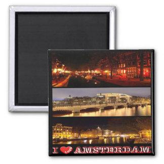 NL - Netherlands Oland-Amsterdam-I Love-Collage Magnet