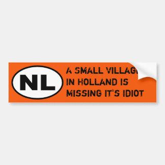 NL Sticker - Missing Village Idiot Bumper Sticker