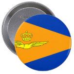 NL VLAG Luchtmacht, Netherlands 4 Inch Round Button