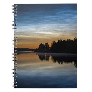 NLC Nattlysande clouds Spiral Notebook