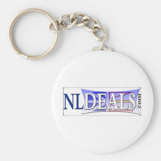 Nldeals Basic Round Button Keychain