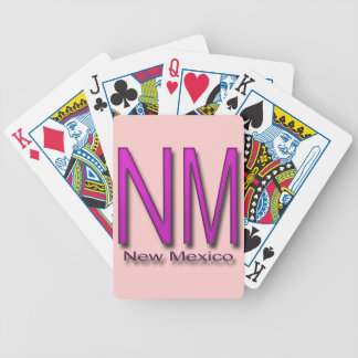 NM New Mexico magenta Bicycle Playing Cards