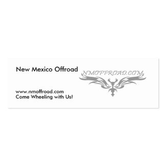 NM Offroad handout cards Double-Sided Mini Business Cards (Pack Of 20)