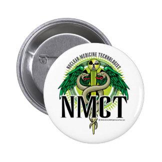 NMCT Caduceus 2 Inch Round Button