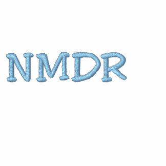 NMDR Embroidered Ladies Zip Hoodie (front & back)