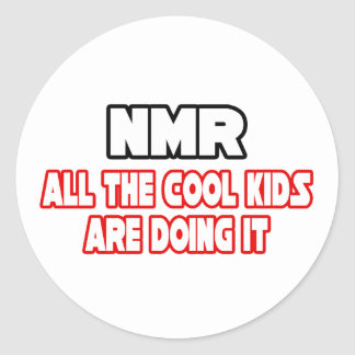 NMR...Cool Kids Classic Round Sticker