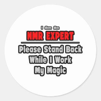 NMR Expert Stand Back Work My Magic Sticker