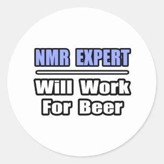 NMR Expert Will Work For Beer Sticker