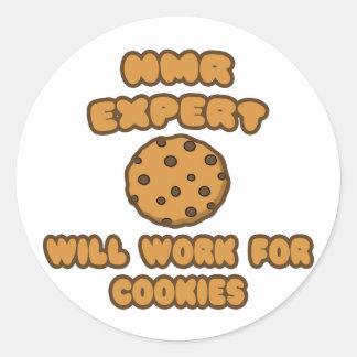 NMR Expert Will Work for Cookies Round Sticker