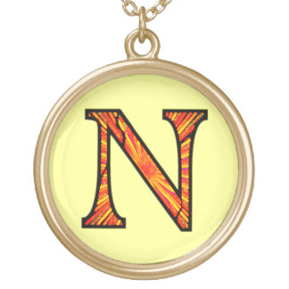 Nn Illuminated Monogram Gold Plated Necklace