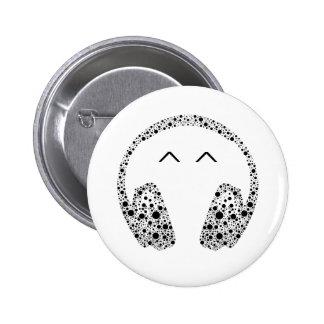 No1 del botón de la música de las auriculares de D Pin Redondo De 2 Pulgadas
