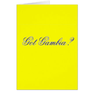"No1""Gambia""  T-Shirt and etc Greeting Card"