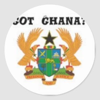 No1 Ghana T-shirt And etc Round Stickers