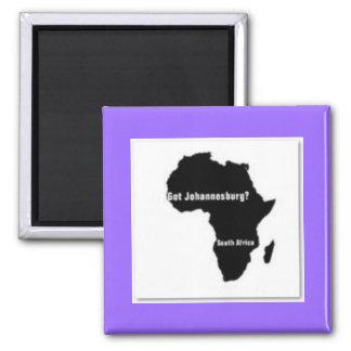 No1 Johannesburg, camiseta de Suráfrica y etc Imán Cuadrado