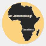 No1 Johannesburg, camiseta de Suráfrica y etc Pegatina Redonda