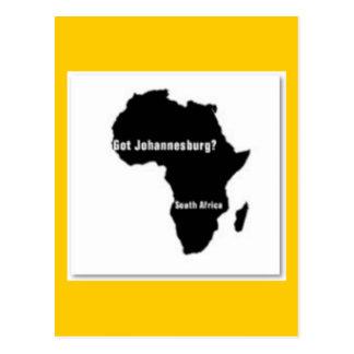 No1 Johannesburg, camiseta de Suráfrica y etc Postales