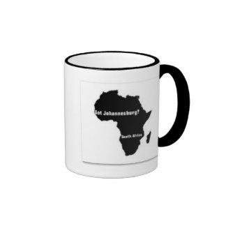 No1 Johannesburg, camiseta de Suráfrica y etc Taza De Dos Colores
