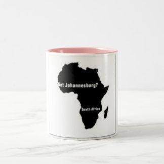 No1 Johannesburg, camiseta de Suráfrica y etc Taza De Dos Tonos